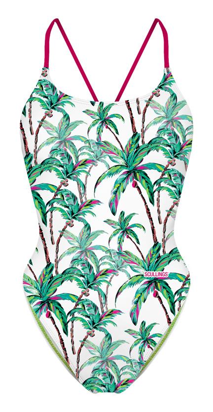 Tie Back Coconut tree Swimsuit