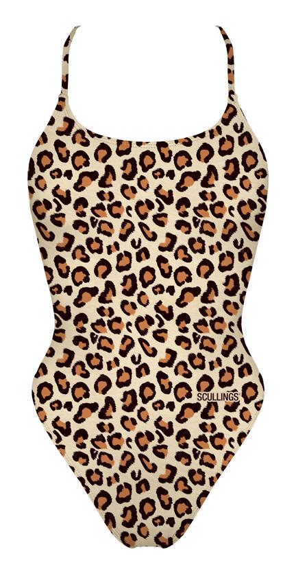 Fato de Banho Leopardo Open Back