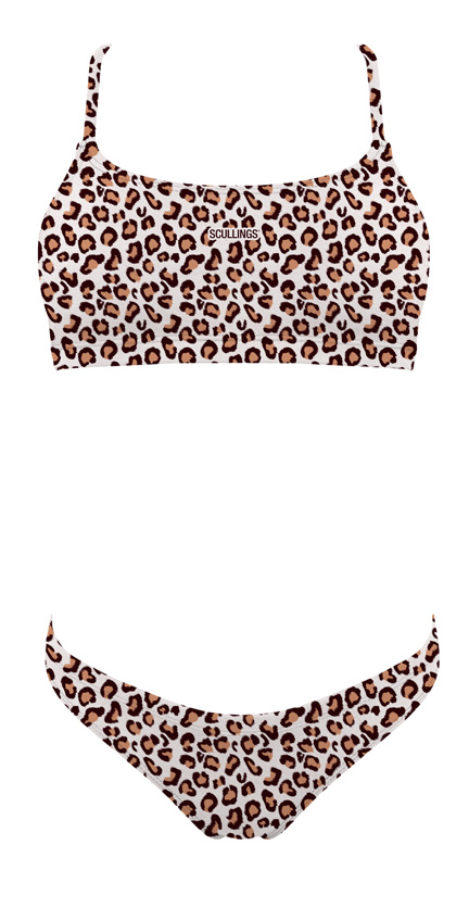 Tie Back Leopard Sunkini