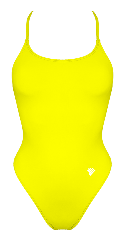 Tie Back Yellow Swimsuit