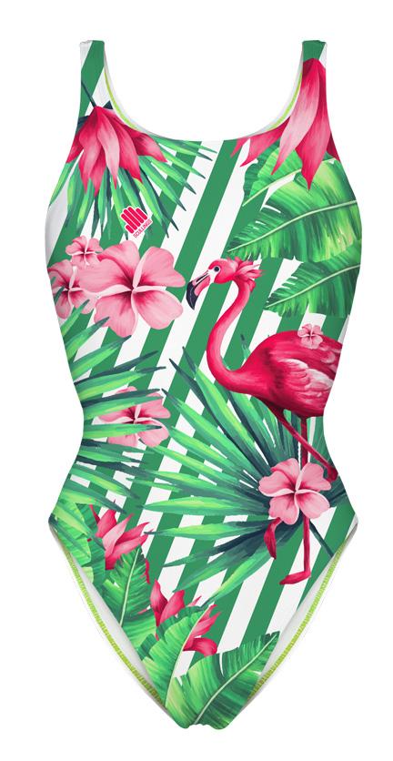 Fato de Banho Flamingo Rosa