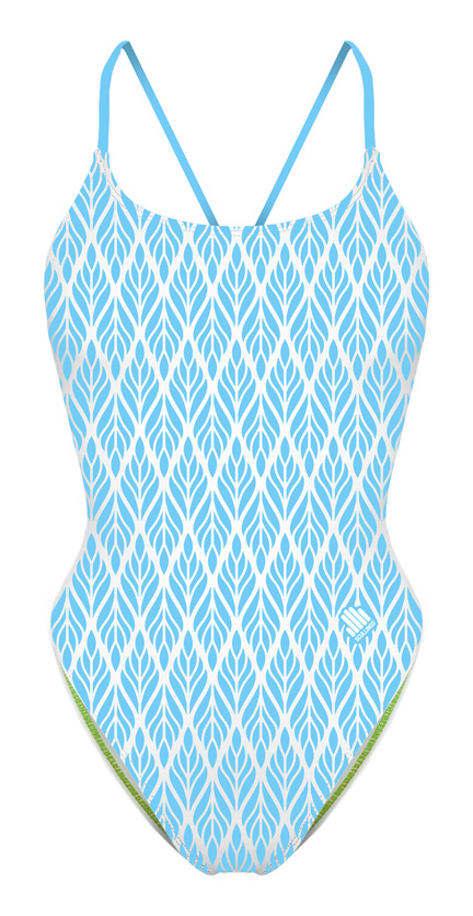 Tie Back Blue Wheat Swimsuit