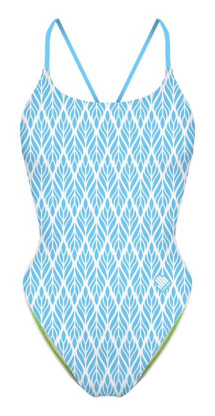 Fato de Banho Espiga Azul Open Back