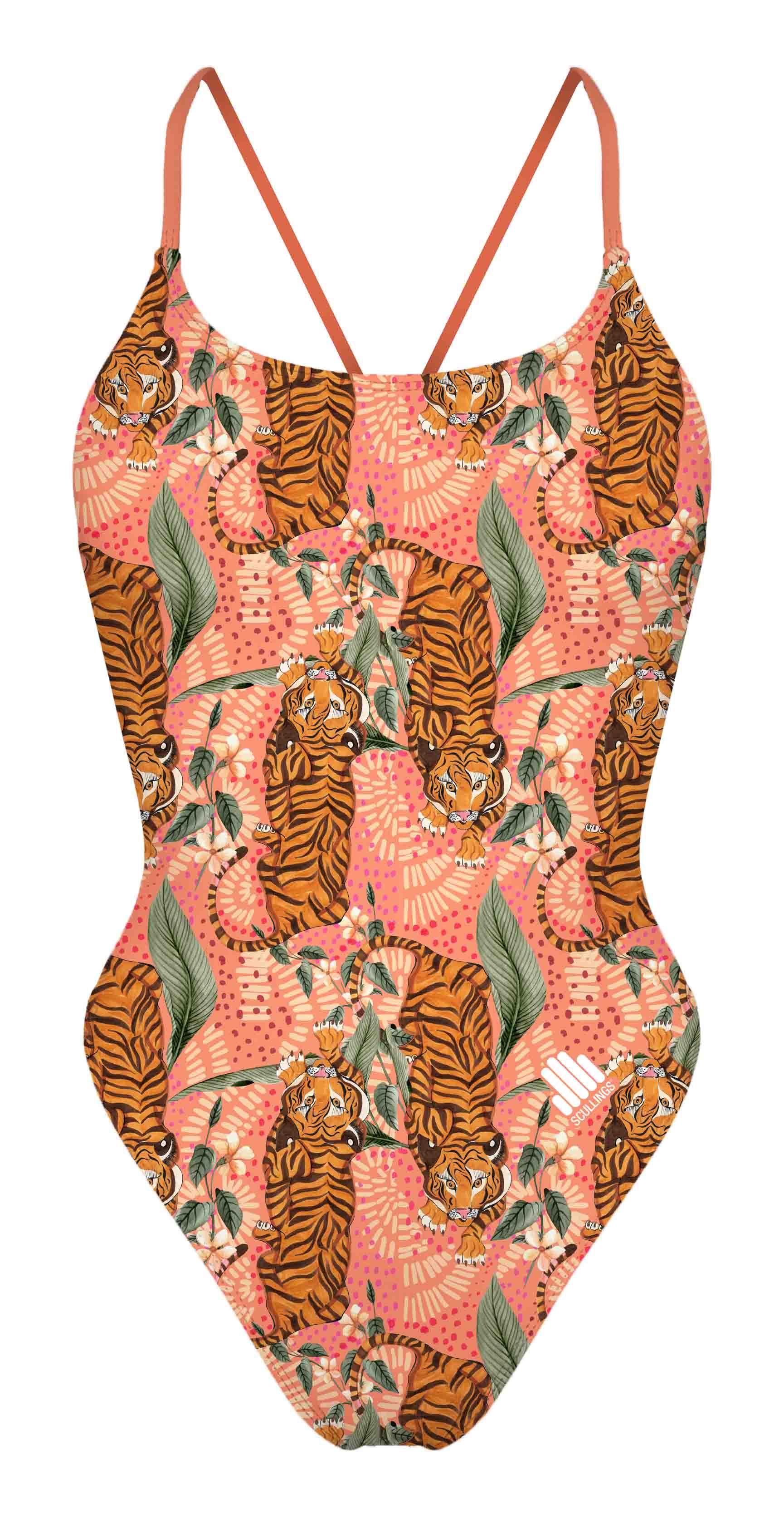 Tie Back Bengal Tiger Swimsuit ECO